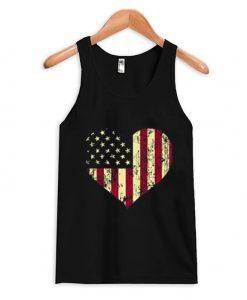 America Heart Tank Top