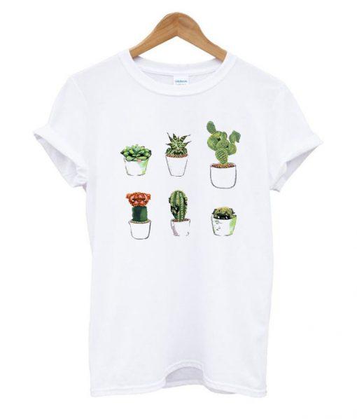 Cactus White T Shirt