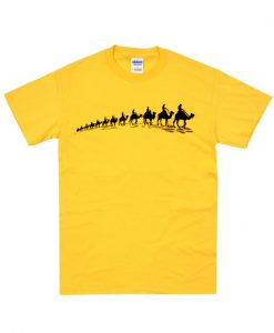 Camel Printed t Shirt