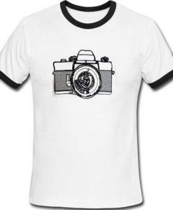 camera retro ringer tshirt