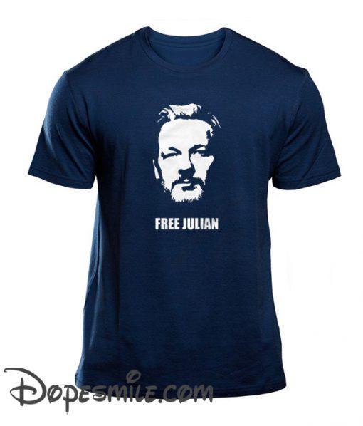 Free Julian Assange Print Wikileaks cool T-Shirt