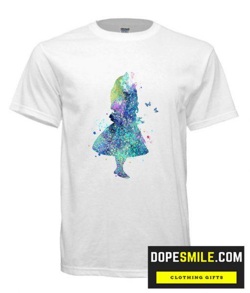 Watercolor Splatter Alice In Wonderland T shirt